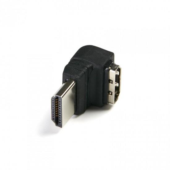 Adaptor Serioux, HDMI mama - HDMI tata inclinat la 90 grade, negru