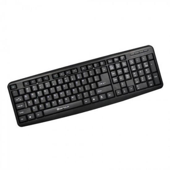 Tastatura Serioux 9400USB, cu fir, US layout, 104 taste, USB