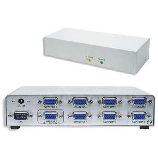 Spliter video profesional 8 porturi, VGA, SVGA, MultiSync