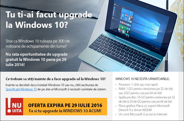 Upgrade WINDWOS 10
